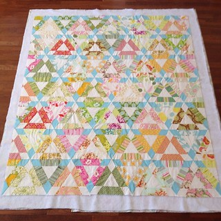 Basted and ready to quilt. So happy to have this quilt almost done! #quilt