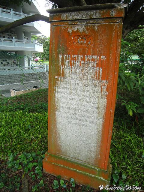 Bidadari Memorial Garden - Christian Section - Headstone of Alexander Gordon 01