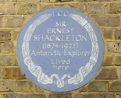 Photo of Ernest Henry Shackleton blue plaque