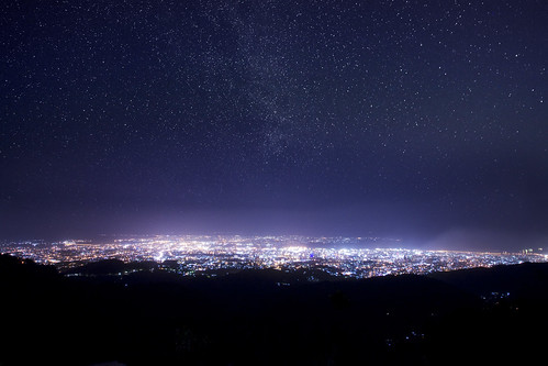 It was a starry night at the view point in Mt. Babag.