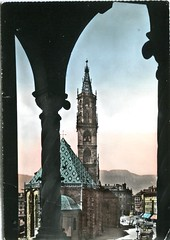 postcard - bolzano - il duomo - 1958