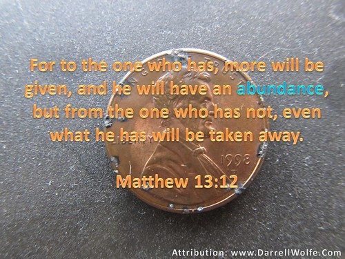 Bible and finances, He Who Has More WIll Be Given Penny DarrellWolfeDo…