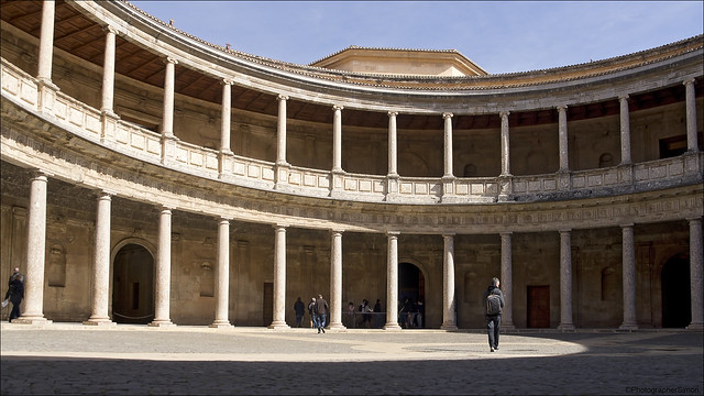 Courtyard of the Castle of Charles V, Holy Roman Emperor