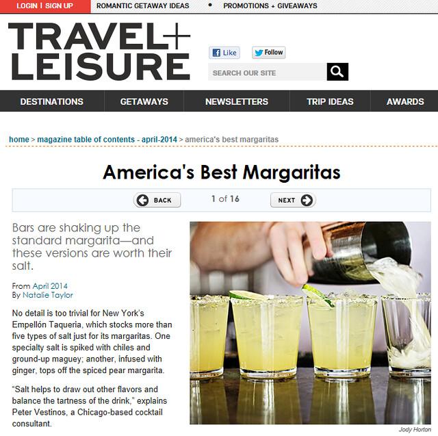 Travel and Leisure margaritas