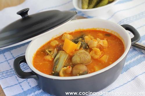 Potaje de castañas con acelgas y calabaza www.cocinandoentreolivos (16)