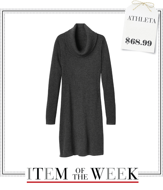 b930d46b605 A charcoal gray cowl-neck sweater dress from Athleta. See how you can  coordinate your wardrobe in 5 different ways with 1 item