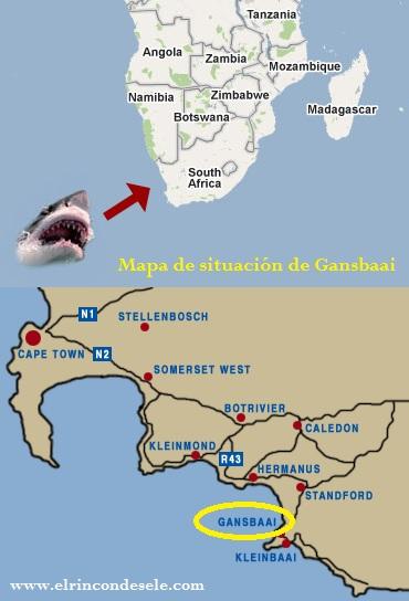 Dónde está Gansbaai (mapa)