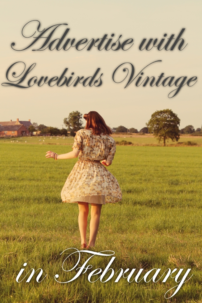 advertise with lovebirds vintage in february