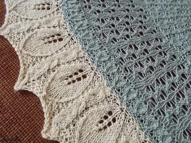 Vanilla Orchid, knitting, shawl,