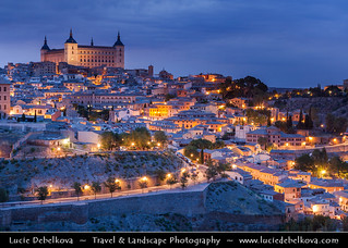 Spain - Toledo - Imperial City at Dusk - Twilight - Blue Hour - Night