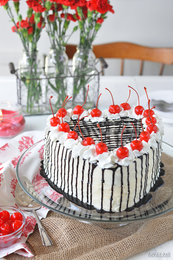 Dark Chocolate Cherry Cake - bethcakes.com