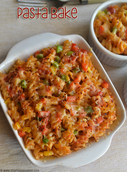 Baked pasta recipe fusilli pasta bake sharmis passions baked pasta recipe forumfinder Image collections