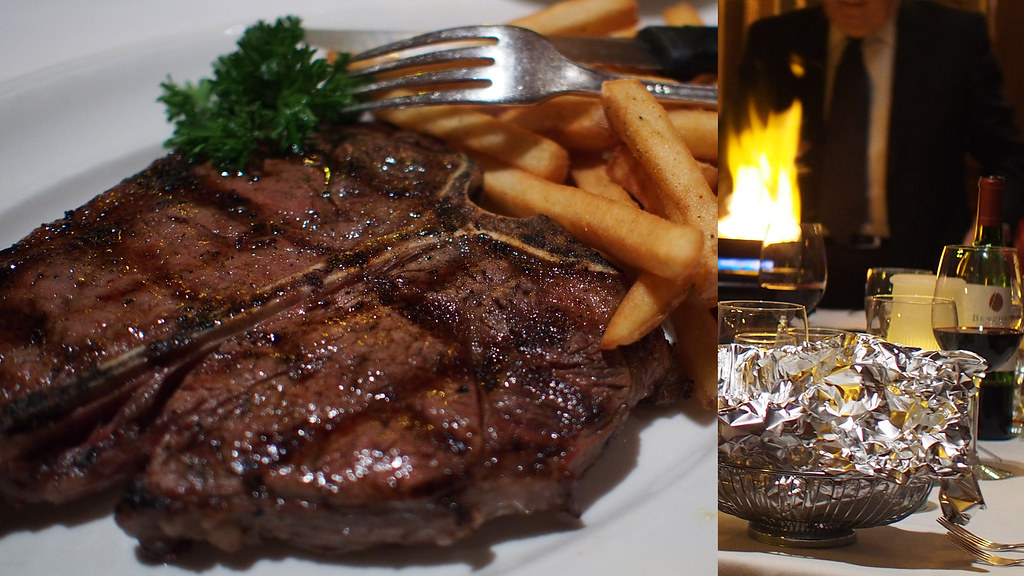 Calgary Caesar's Steakhouse - T-Bone Steak and Steak Diane