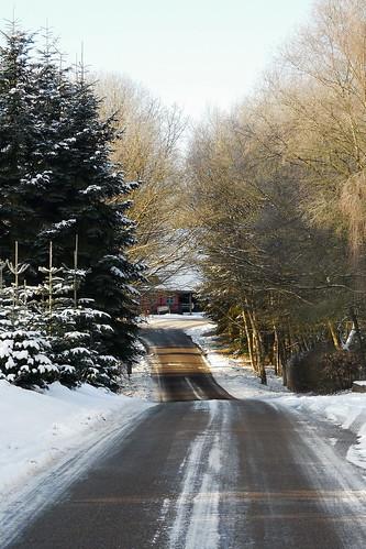 road winter snow denmark vinter danmark vej sne jylland smidstrup