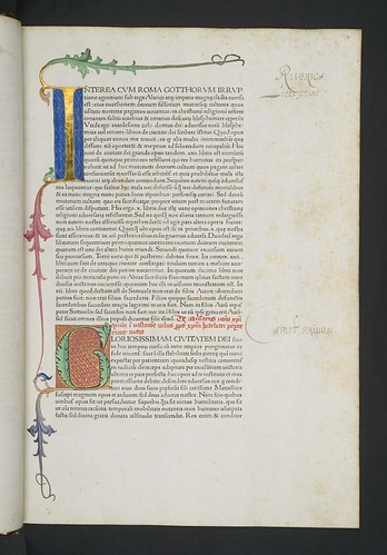Illuminated and decorated initials in Augustinus, Aurelius: De civitate dei