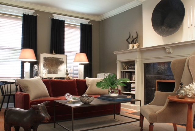 Decorating with Marsala | Pantone Color of 2015 | #LivingAfterMidnite