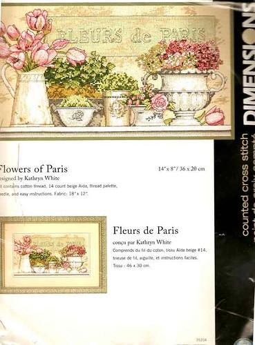 Скачать схему цветы парижа