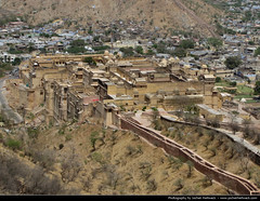 Amber Fort seen from Jaigarh Fort, India