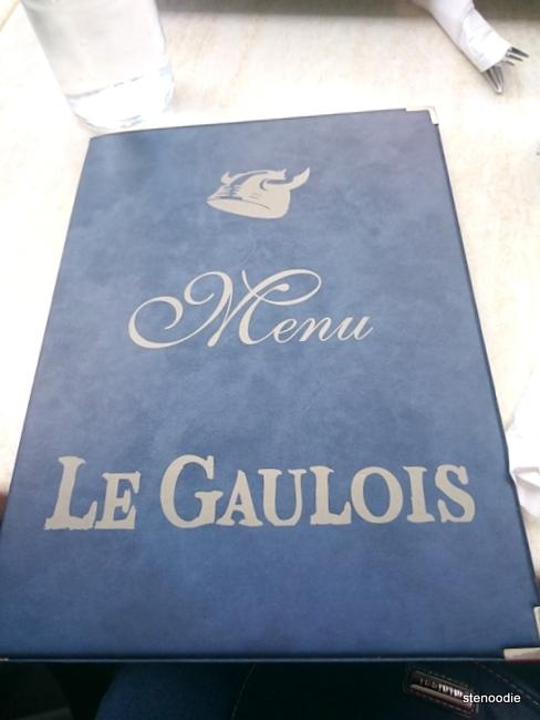 Le Gaulois menu