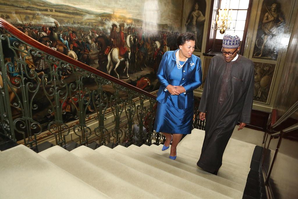 Patricia Scotland QC, Commonwealth Secretary-General and Muhammadu Buhari, President of Nigeria