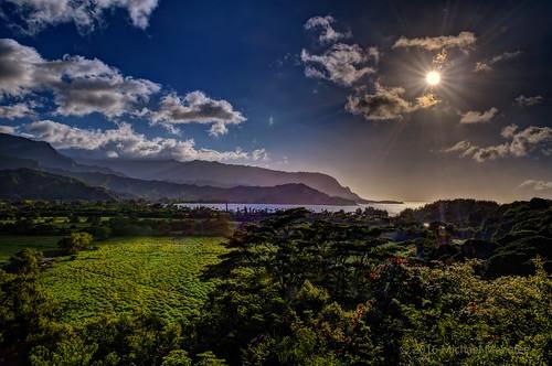 ocean travel sun nature skyscape landscape island coast nikon paradise afternoon pacific scenic panoramic kauai tropical sunburst tropics hdr hanalei starburst d500 hanaleibay kauaicounty menefee kauaʻi michaelmenefee