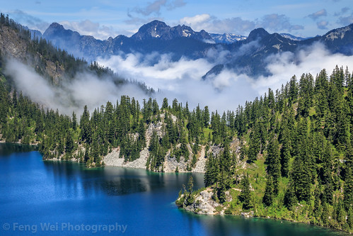 travel lake color beautiful beauty horizontal trek relax landscape outdoors us washington scenery view unitedstates relaxing scenic alpine stunning vista snowlake picturesque breathtaking northbend mtbakersnoqualmienationalforest