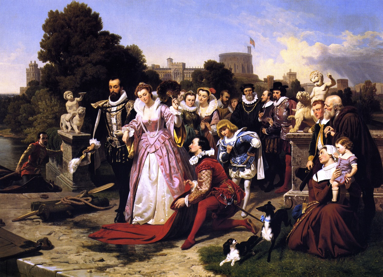 Elizabeth and Raleigh by Emanuel Gottlieb Leutze, 1848