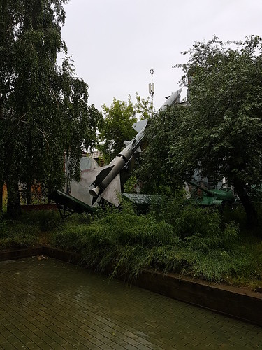 Random fighter jets in the park, downtown Irkutsk