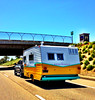 Each year there is an antique RV show in Pismo. I missed this year's but saw a couple RV's as they left . . .
