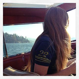 kim in the boat