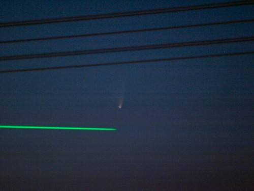 Panstarrs and the Laser
