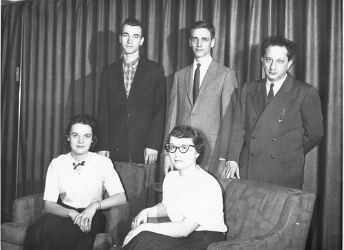 Rene Frank with Music Club officers