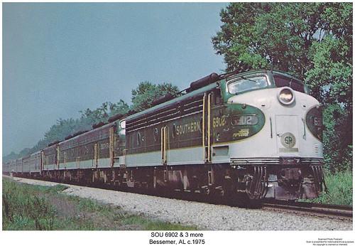 diesel crescent southern locomotive sr sou emd eunit aunit sixaxle cabunit coveredwagone8e8atraintrainstrain enginerailroadrailwaybessemeralabamasouthern