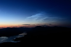Noctilucent clouds above Loch Etive