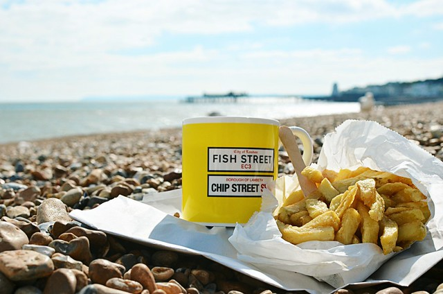 Day 160/365 - Seaside Tea and Chips