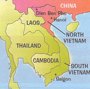 map- Vietnam war