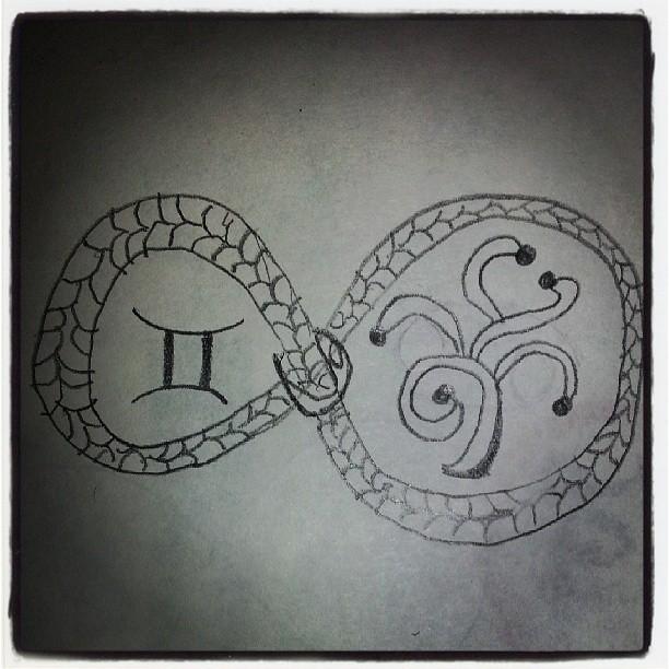 Voici mon prochain tatouage pour ma cheville.  J'espère que mon tatoueur dessinera mieu que moi mdr