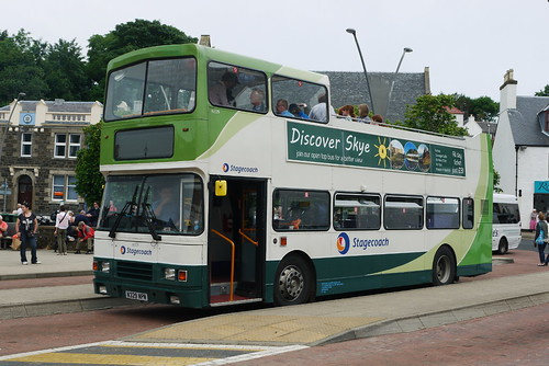 Volvo Olympian (open top), N329 NPN, Stagecoach in Skye, Portree bus stance