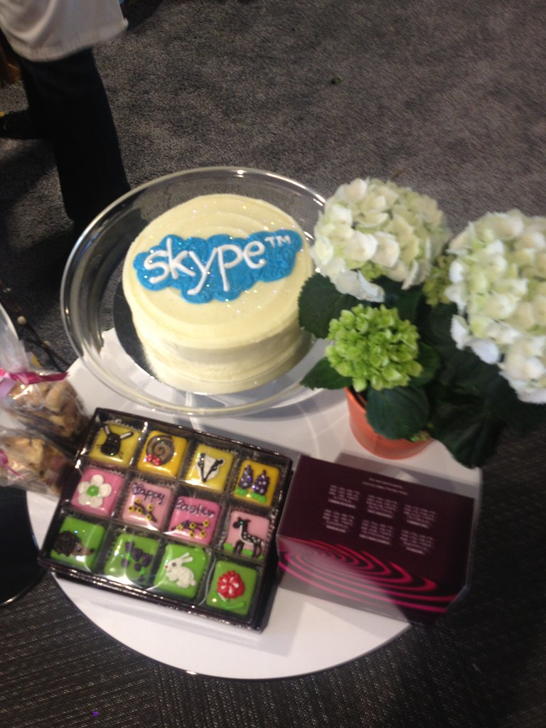 Post show cakes at Skype