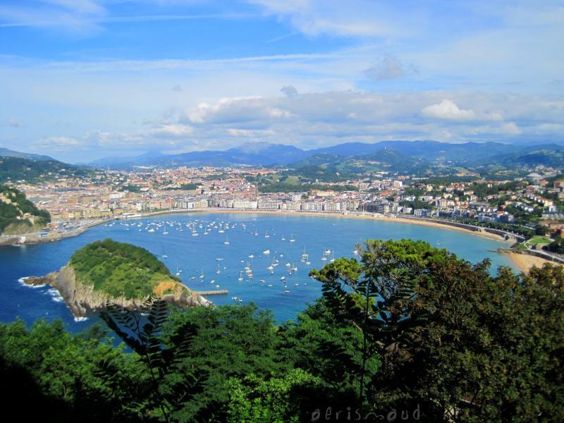 San Sebastián y bahía de La Concha desde el Monte Igueldo. Autor, Aerismaud