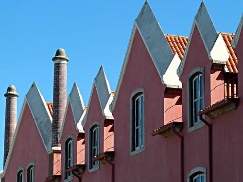 houses windows building portugal view minimalist