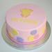 baby onesie polka dot cake