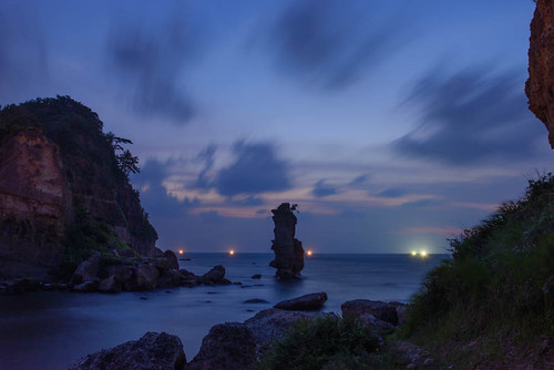 ocean sunset sea japan night view ngc 日本 日本海 島根県 漁り火 大田市 02景色 掛戸松島