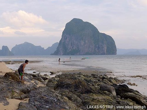 Jherson and the bigger and grander limestone cliff island in El Nido, Palawan, Philippines