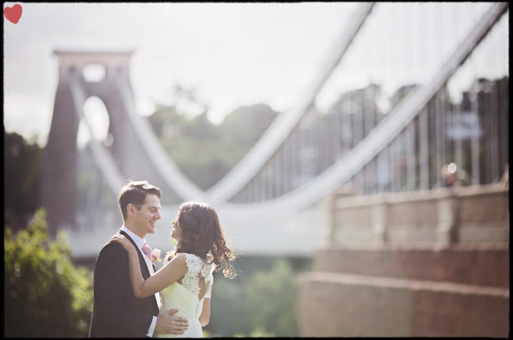 Clifton Suspension Bridge Wedding Photography by James Fear