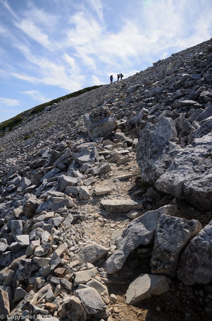 20130813 ガレ場の登り
