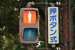 light fixture(0.0), advertising(0.0), signage(1.0), signaling device(1.0), sign(1.0), light(1.0), traffic sign(1.0), lighting(1.0), traffic light(1.0),