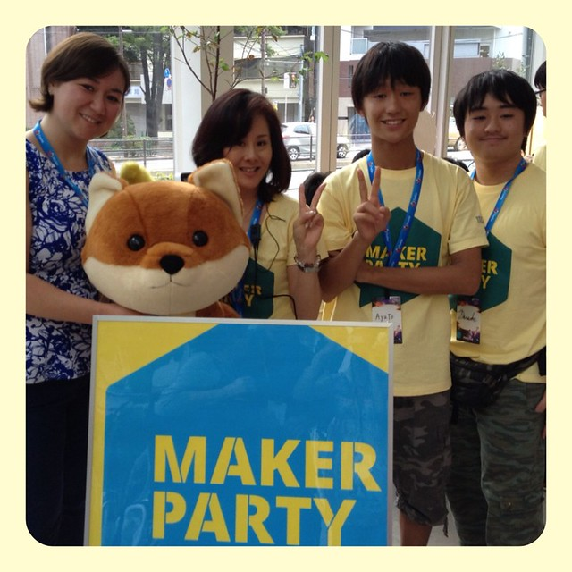 Maker Party team w/Fox-suke
