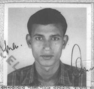 Mr. Shubhas Bar's passport photo