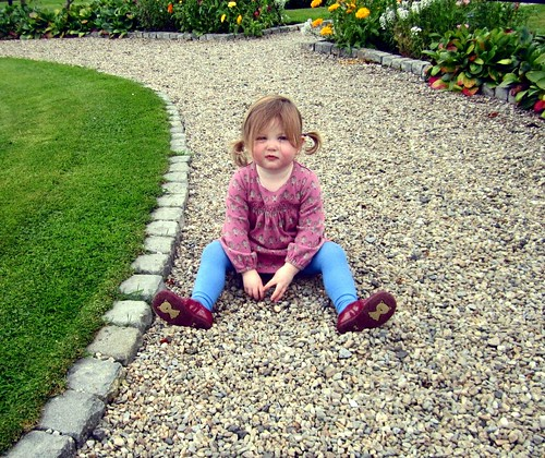 Evie Playing With Stones